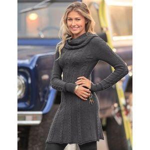 Athleta Dresses - Athleta Cowl neck Cable Knit Dress sz S